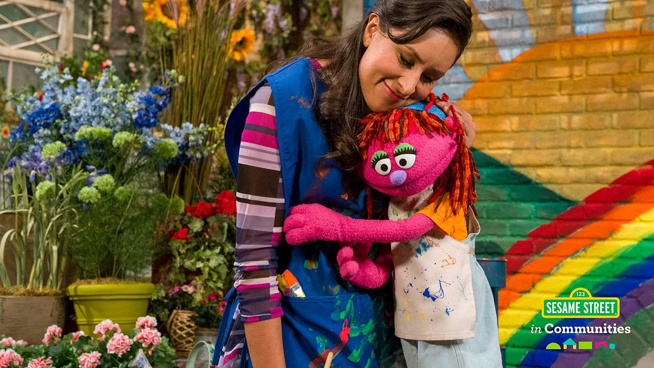 Sophia and Lily, courtesy Sesame Workshop
