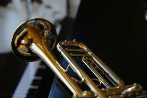 horn and keyboard