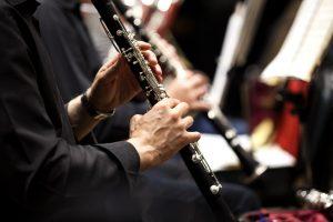 clarinetist in orchestra