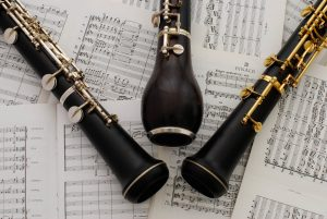 oboes and english horn on manuscript