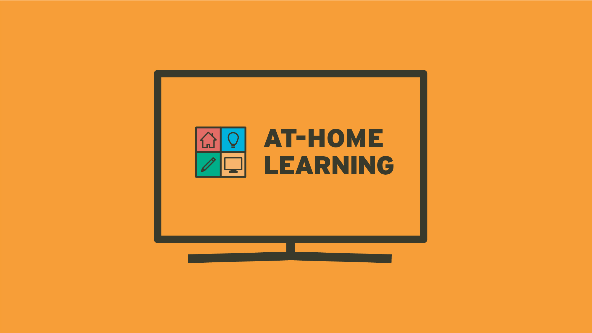 At Home Learning programming TV graphic