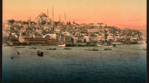 The city of Istanbul, featuring the Suleymaniye mosque complex.