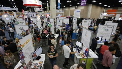 Many educator conferences, such as the ISTE 2017 Conference shown here, have pivoted to online events.