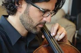 Cellist Amit Peled closeup