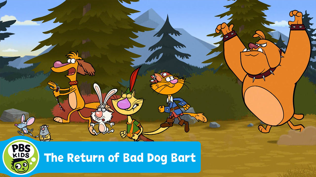 Bad Dog Bart chases Nature Cat and his friends.