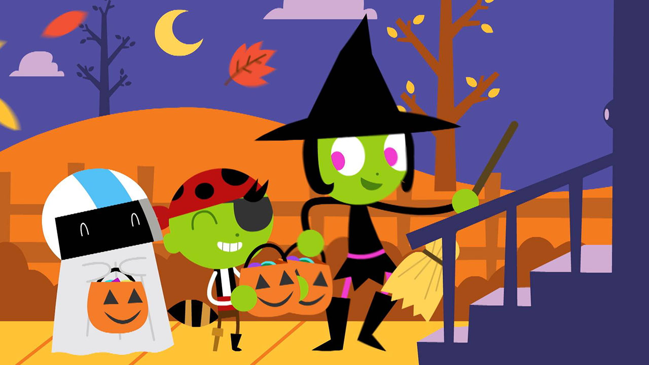 PBS Kids characters trick or treat