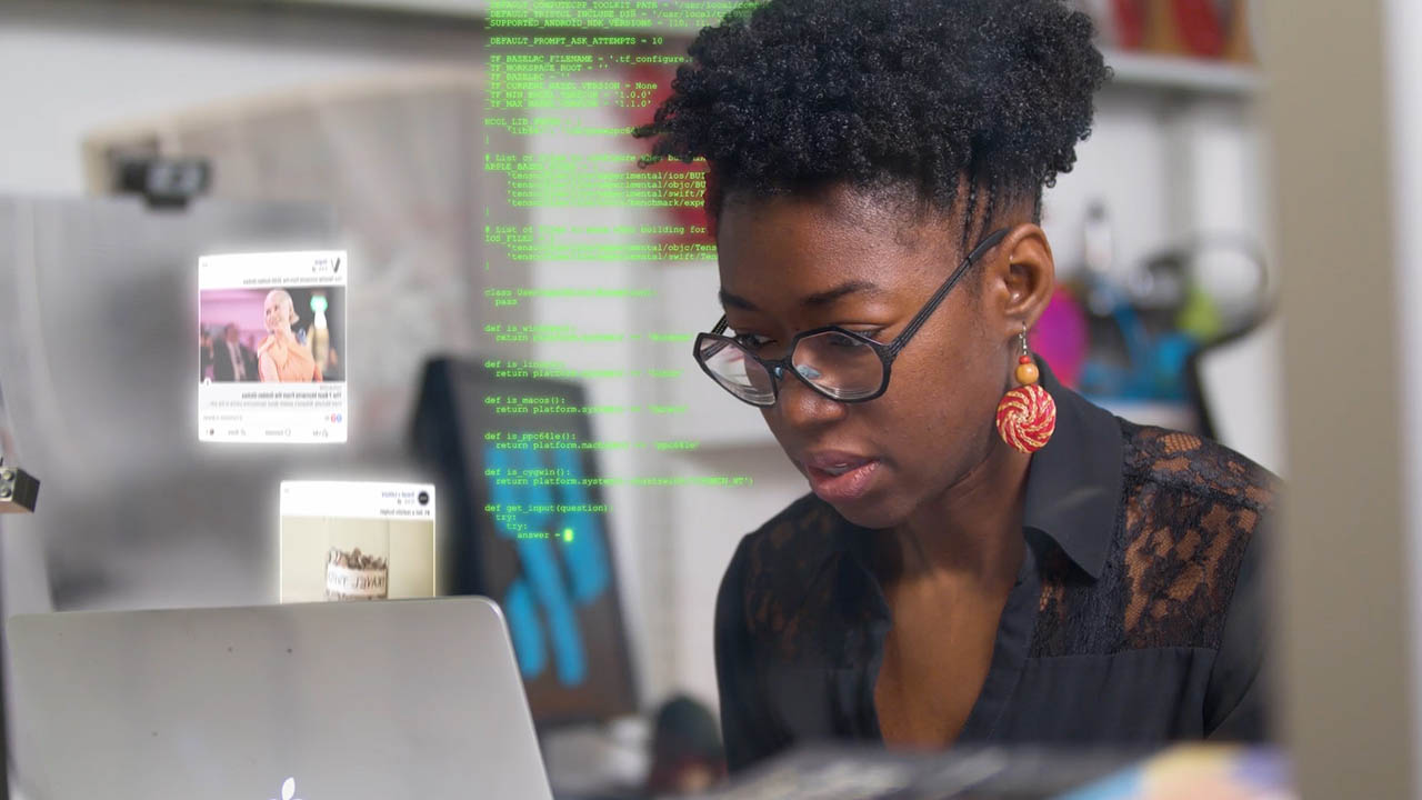 MIT researcher Joy Buolamwini in Coded Bias