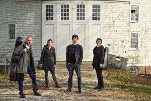 Jupiter Quartet standing outside