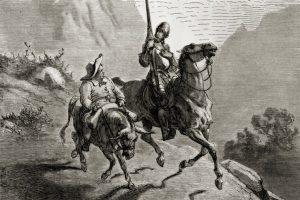 sketch of Don Quixote and Sancho Panza