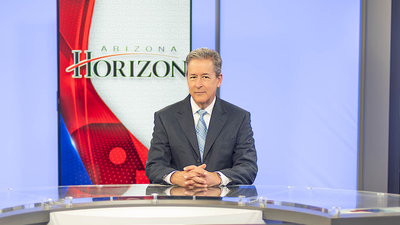 Ted Simons sits at the Arizona Horizon anchor desk.